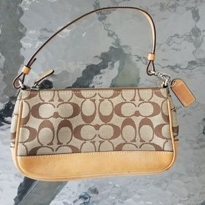 COACH Baguette #6094 Khaki Signature Bag